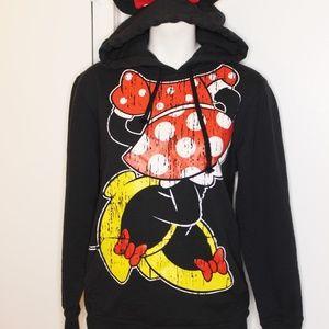 Disney Parks Minnie Mouse Sweatshirt Hoodie M